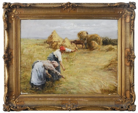 gleaners in the field by eugène labitte