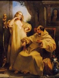séduction d'un moine by gustave (egidius karel g.) wappers