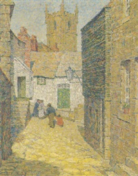village scene by mary nicholena maccord