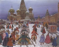 transporting the prisoner, red square, moscow by vladimir nikolaevitch aralov