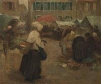 a breton market by florence bill