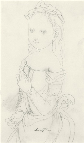 a girl by léonard tsuguharu foujita
