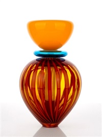 art glass scent bottle by nick mount