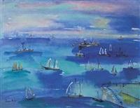scene de port by jean dufy