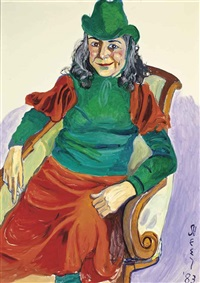 portrait of vivien leone by alice neel