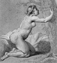 angélique gravant son nom dans l'écorce d'un arbre by edmé jeaurat
