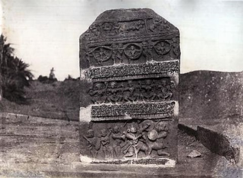 five views of temples and inscriptions (from architecture in dharwar and mysore; 5 works) by thomas biggs