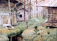 les chalets dans la forêt by aleksandr grigorevich kantserov