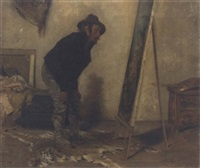 the artist's studio by antonio lonza