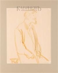 «сидящий мужчина» и «портрет старушки» (double-sided) by meier akselrod