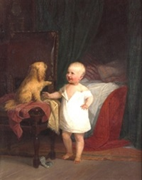 nño con perro by dionisio fierros