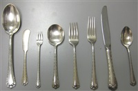 rosemary patterned flatware service (83 pieces) by easterling company