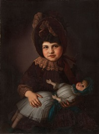 portrait of myra lindauer graham nee partridge, henry partridge's daughter by gottfried lindauer