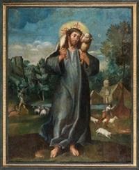 el buen pastor con su rebaño by anonymous (16)