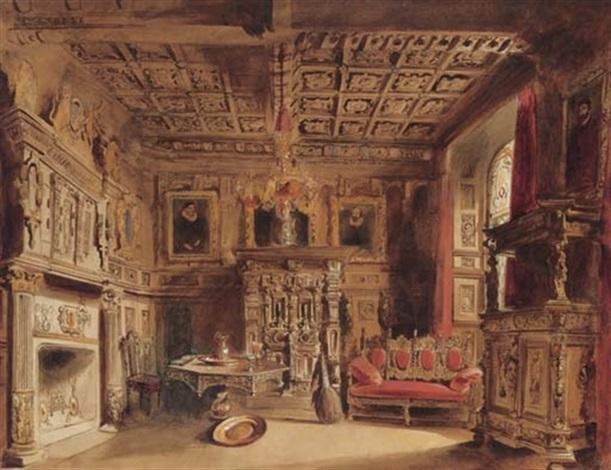 A Tudor interior by William Lake Price on artnet