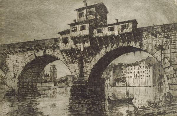 ponte della pietra a verona by e fagiuoli