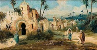 escena orientalista by emilio alvarez díaz