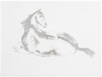 lying down horse by elisabeth frink
