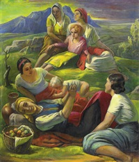 picknick in den bergen by ernst honigberger