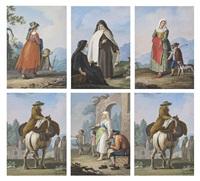 neapolitan costume (study) (+ 5 others; 6 works) by saverio xavier della gatta