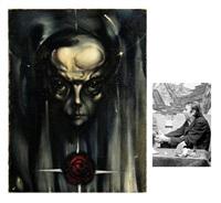 portrait de st. exupéry by otari kandaurov