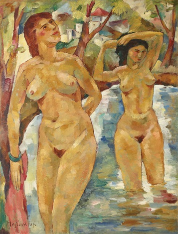 bathing beauties by imre lásló hajos