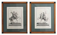 equestrian statue (+ another; 2 works) by giuseppe aloja