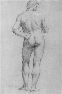 standing male nude by giacomo zoboli