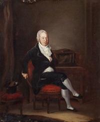 portrait d'un gentilhomme assis by joseph reinhart