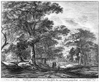 ansichten aus den wäldern von den haag (set of 6) by roelant roghman