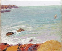 côtes rocheuses en bretagne by victor charreton