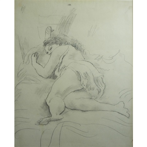 reclining woman by jules pascin