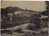 vue de la manufacture de sèvres, au premier plan les fondations de la nouvelle manufacture by henri-victor regnault