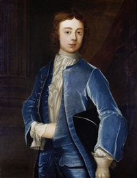 portrait of a boy in blue costume by j. smith