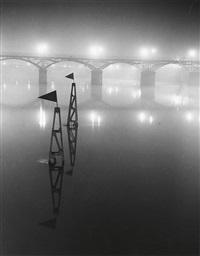le pont des arts dans le brouillard, paris by brassaï
