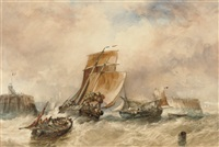 running into calais on the tide by alfred herbert