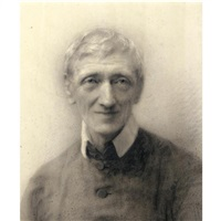 portrait drawing of the very rev. john henry newman, later cardinal newman by jane fortescue seymour