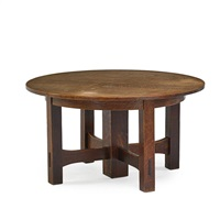 five-legged dining table by gustav stickley
