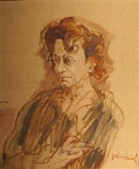 portrait de femme by claude weisbuch