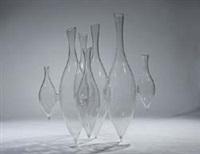 verbundene vase, auch vasen im ikebanastil by vera liskova
