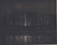 moonlight: the pond by edward steichen