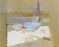 still life with bottle by george kennerley