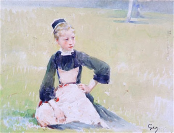 jeune bretonne by henry jules jean geoffroy