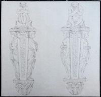 études de deux appliques d'après l'ancienne egypte by jacques gamelin