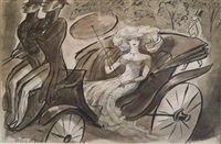 lady in a carriage by peter arno