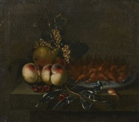 paire de nature morte aux fruits by paul liegeois