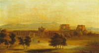 view of rome and the roman campagna by john (newbott) newbolt