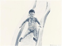boy on slide by guo hongwei