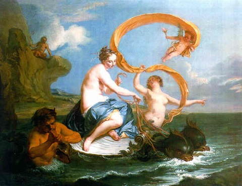 the triumph of galatea by noël nicolas coypel