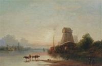harbor scene by william bates